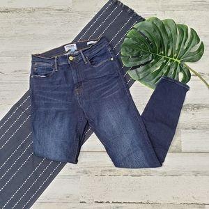 Frame  Le High Skinny Jeans Wythe Split Hem 28